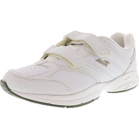 Avia Women's Union Slip Resistant Women's White / Chrome Silver / Lemon Yellow Ankle-High Leather Cross Trainer Shoe - 7.5W