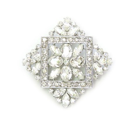 Gorgeous Clear Crystal Pin Brooch For Bridal Bridesmaid Wedding Party C152
