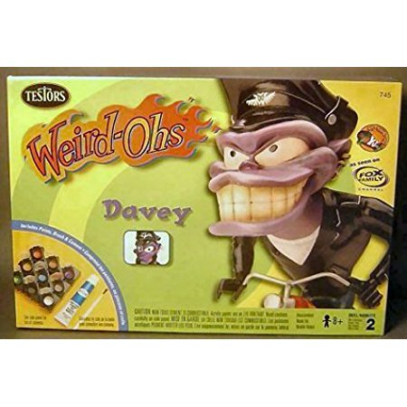 Weird Ohs Model (Weird-Ohs Davey Model Kit, Skill Level 2,for ages 8 and up By Model Kits Ship from US)