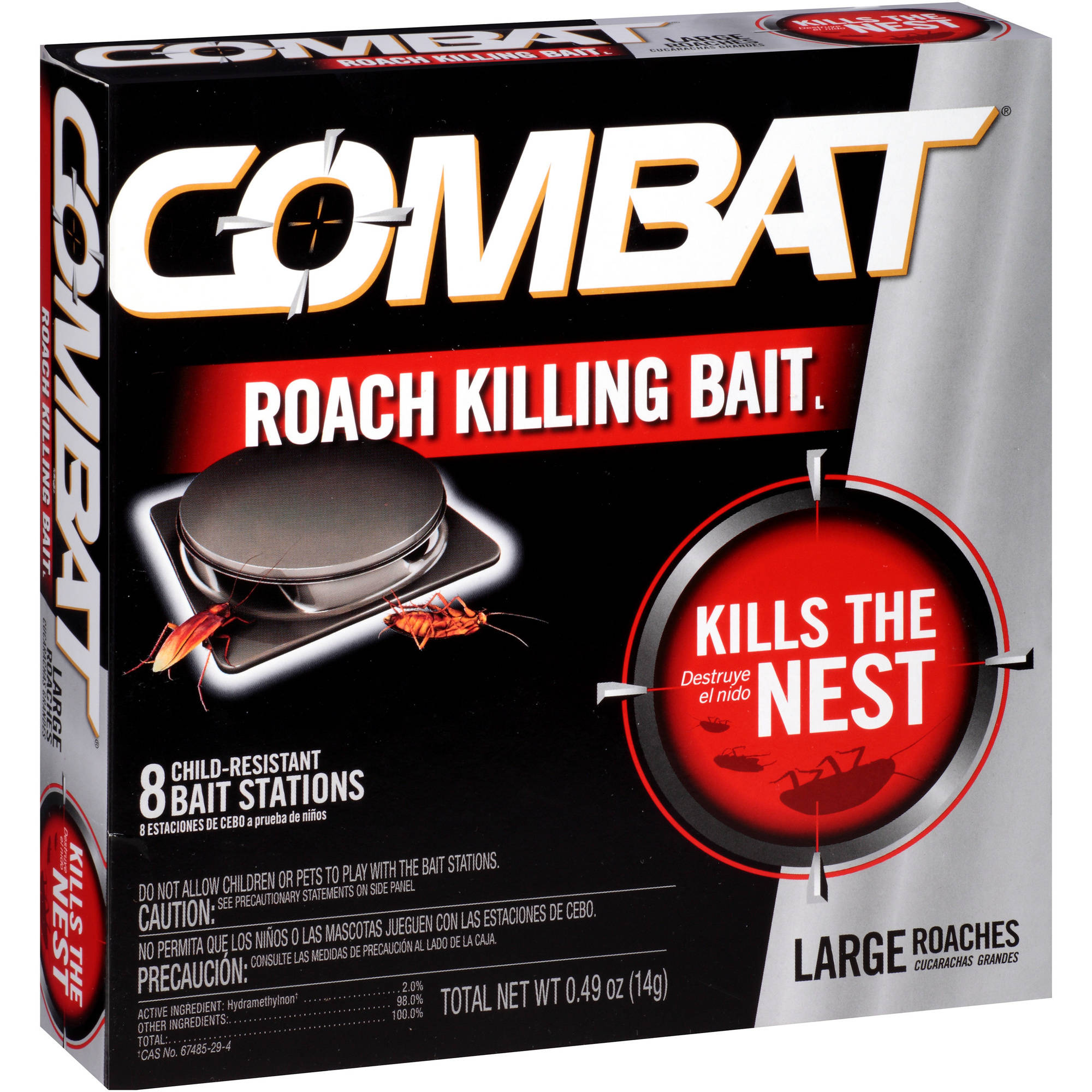 Combat�� Large Roaches Roach Killing Bait Stations 8 ct Box