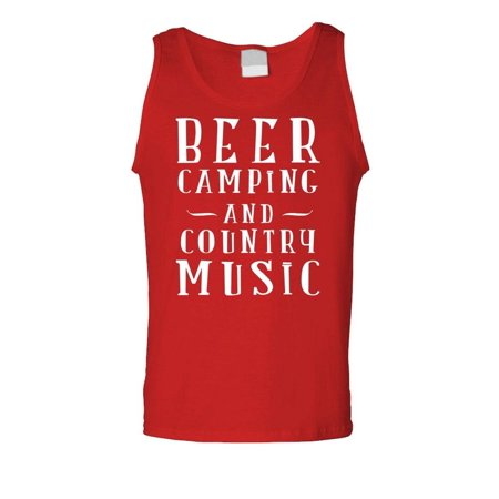 BEER CAMPING COUNTRY MUSIC - alcohol party - Mens Tank -