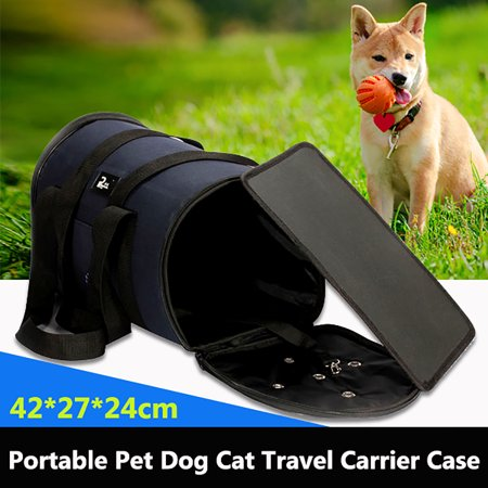 - Pet Dog Puppy Cat Portable Travel Outdoor Carrier Tote Cage Bag Kennel Crates Box Holder L Size for Pet Between 2.5-5.5KG