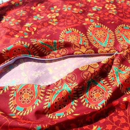 Large Mandala Floor Pillows Round Bohemian Meditation Cushion Cover Ottoman Pouf ()