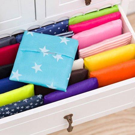 Fashion Foldable Design Nylon Shopping Bag Eco-Friendly Reusable Handle Bag - image 2 of 8