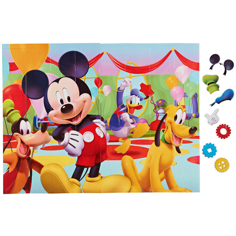 Mickey Mouse Clubhouse Party Backdrop and Props Photo Kit
