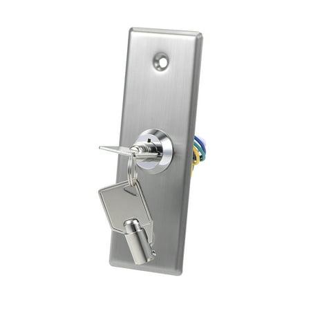Key Switch Lock On Off Exit Door Lock Emergency Door Release SPST for Access Control w 2 Keys