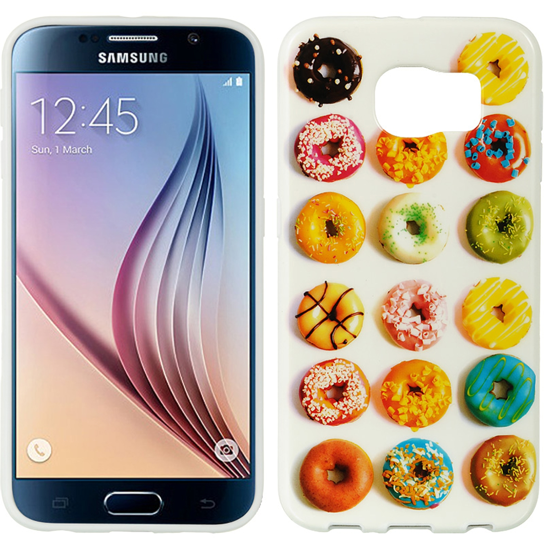 Samsung Galaxy S6 Black TPU Imd Case Donuts