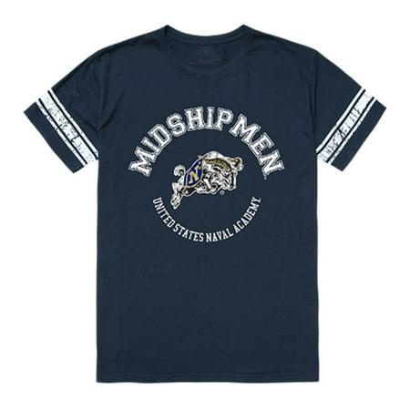 United States Naval Academy Midshipmen Men's Football Tee T-Shirt Navy Small (Navy Midshipmen Naval Academy)