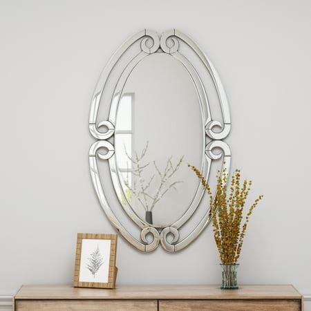 Oval Mirror (Paige Modern Glam Wall Mirror, 36.75