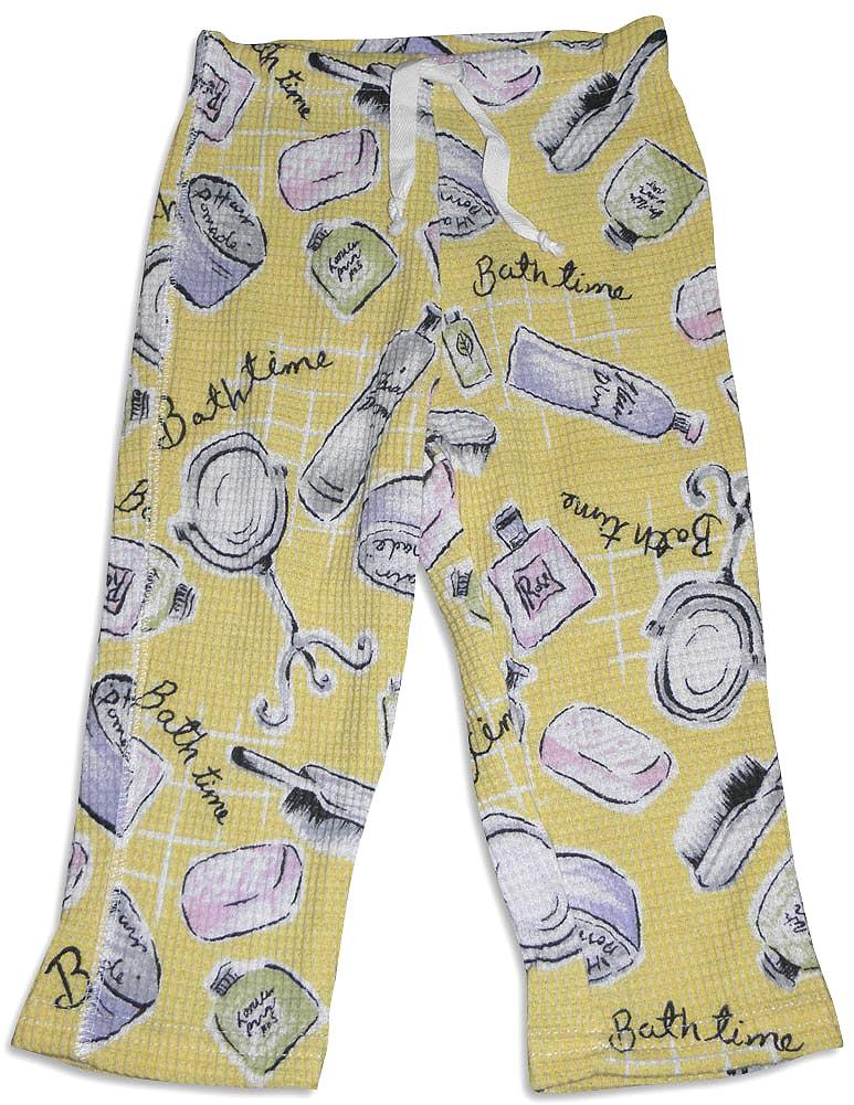 PJ Salvage - Baby Girls Thermal Pant Yellow / 12-18 Months