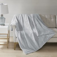 Comfort Classics Plush Solid Weighted Blanket With Removable Cover