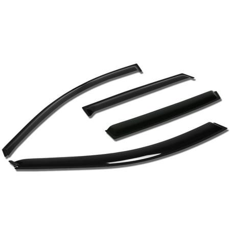 For 03-08 Matrix E130 / Pontiac Vibe 4pcs Window Vent Visor Deflector Rain Guard (Dark Smoke) 04 05 06 07