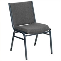 Kingfisher Lane Upholstered Stacking Chair in Gray