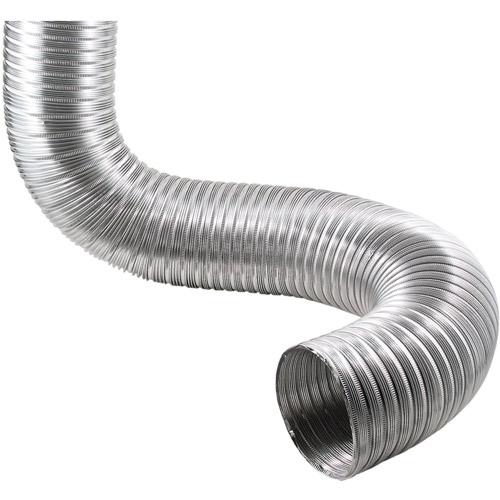 """Deflecto Semi-Rigid Flexible Aluminum Duct, 4"""" dia x 8'"""