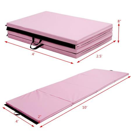 "4'x10'x2"" Gymnastics Mat Thick Folding Panel Aerobics Exercise Gym Pink - image 5 de 7"