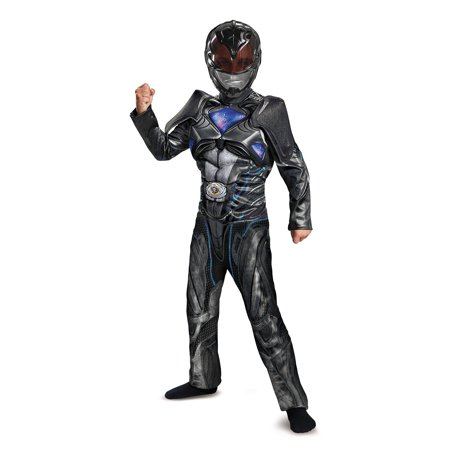 Power Rangers: Black Ranger Classic Muscle Child Costume - Black Swan Costumes