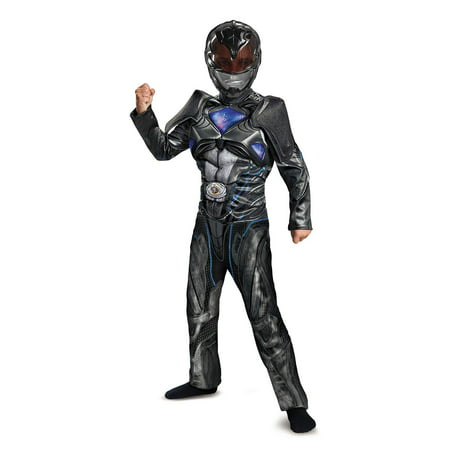 Power Rangers: Black Ranger Classic Muscle Child Costume - Black Power Ranger Costume For Kids