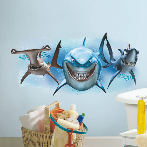 Elegant Finding Nemo Sharks Peel And Stick Giant Wall Decals Part 24