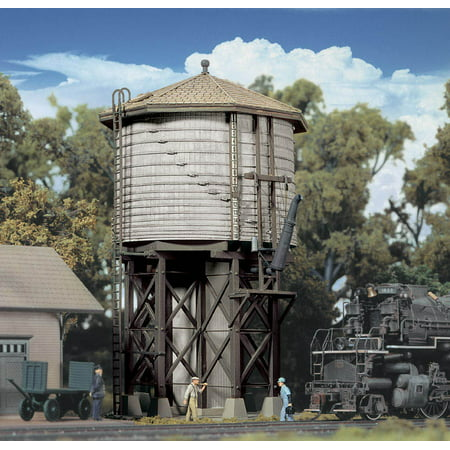 Fuel Tank Ho Scale (Walthers Cornerstone HO Scale Building/Structure Kit Wood Water Tank )