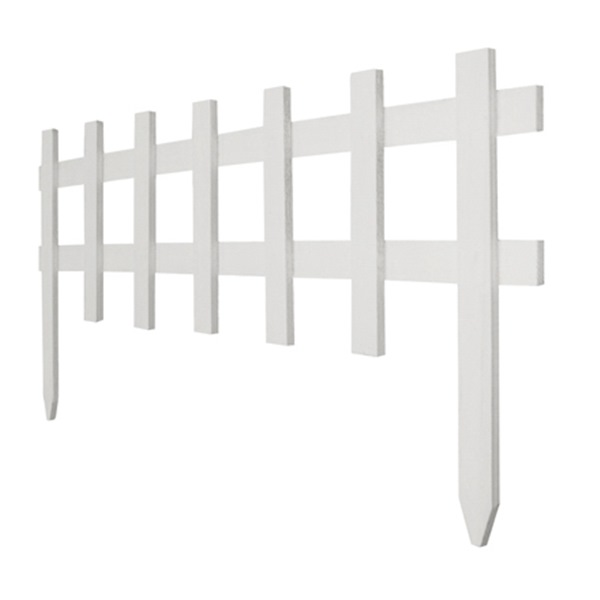 Decorative Wood Picket Border Fence by GREENES FENCE CO