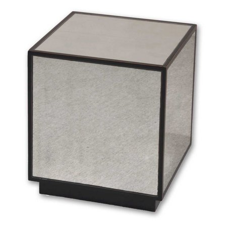 Uttermost Matty Mirrored Cube End Table