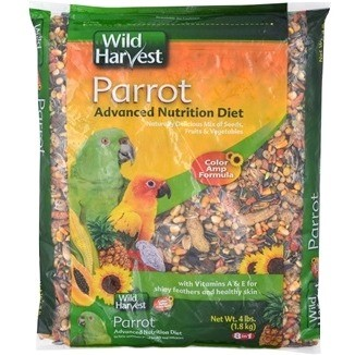 Wild Harvest Advanced Nutrition Diet for Parrots, 4-Pounds