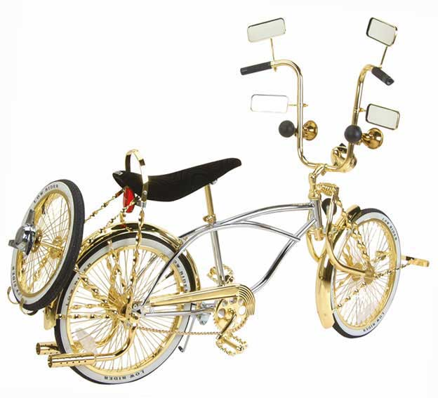 "20"" Fully Loaded Lowrider Bike, Chrome & Gold"