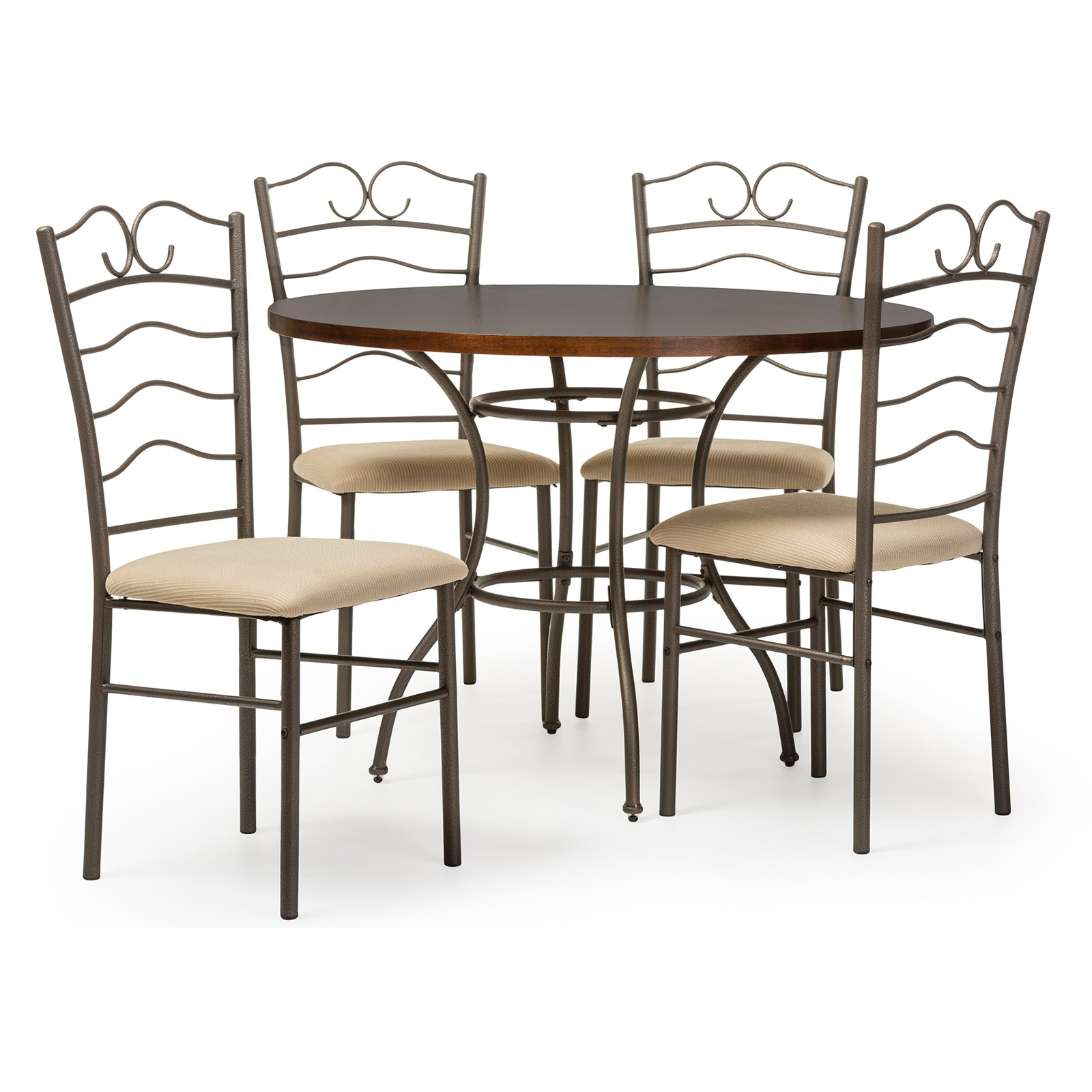 Baxton Studio Monarch 5 Piece Dining Table Set