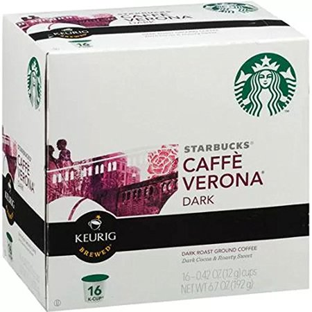 Starbucks Caff? Verona? K-Cup? Packs, 96 count, Premium Coffee Blend, Best Gourmet Coffee, Specialty Roasted Beans
