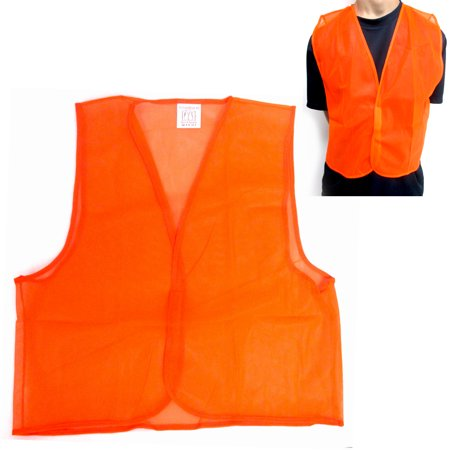Orange Safety Vest High Visibility Construction Traffic Warehouse Hunting New ! - Construction Vests