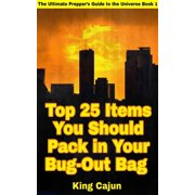 Top 25 Items You Should Pack in Your Bug-Out Bag - eBook