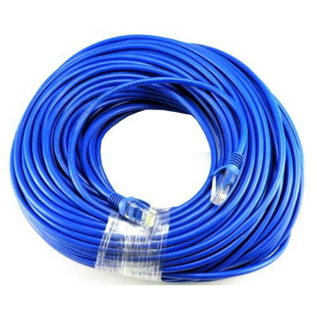 BLUE Gold Plated 50FT CAT5 CAT5e RJ45 PATCH ETHERNET NETWORK CABLE 50 FT For PC, Mac, Laptop, PS2,
