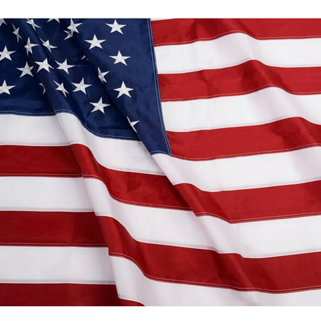 ANLEY [Heavy Duty] American US Nylon Flag - Embroidered Stars and Sewn Stripes - 4 Rows of Lock Stitching - USA Banner Flags with Brass Grommets 3x5; 4x6; 5x8; 6x10 (George Bush Usa Flag)