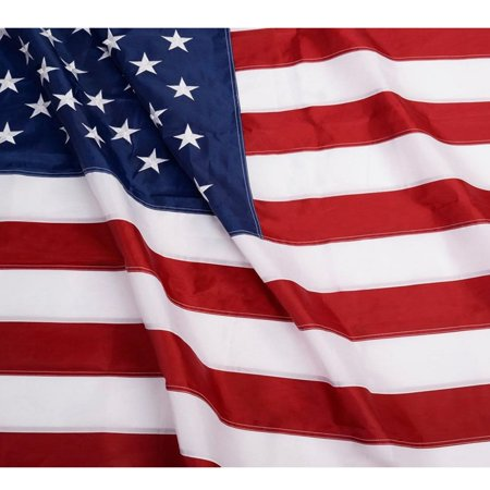 ANLEY [Heavy Duty] American US Nylon Flag - Embroidered Stars and Sewn Stripes - 4 Rows of Lock Stitching - USA Banner Flags with Brass Grommets 3x5; 4x6; 5x8; 6x10 Feet