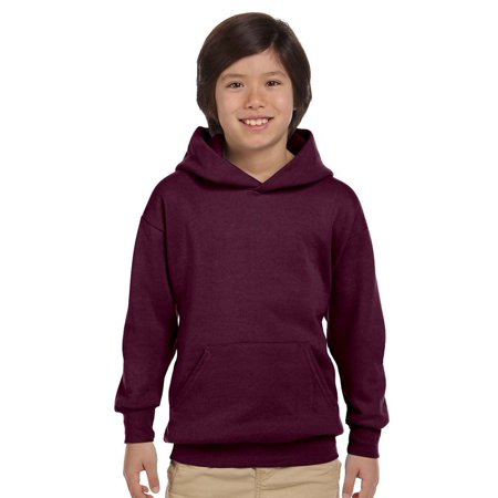 Hanes Youth ComfortBlend EcoSmart Pullover Hood, Maroon, Large, Style, P473