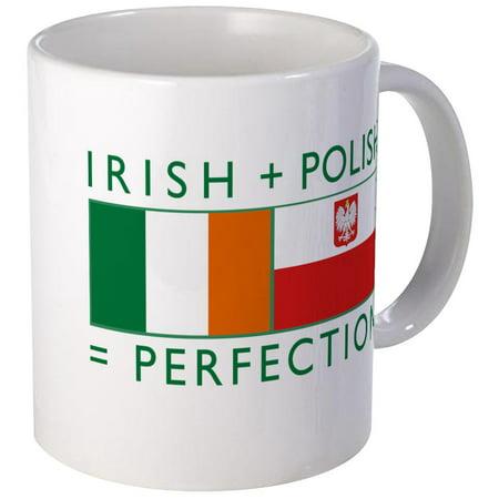 Irish Coffee Set (CafePress - Irish Polish Flags Mug - Unique Coffee Mug, Coffee Cup CafePress)