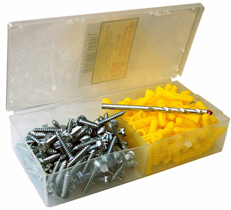 Super Yellow Anchor Kits Hex Head 10 X 1in.