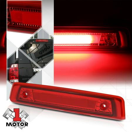 Chrome Housing Red Lens Led Bar Third 3rd Brake Light For 06 10 Jeep Commander 07 08 09