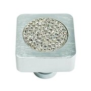 Atlas Homewares Boutique Crystal Collection Small Square Pave Cabinet Knob