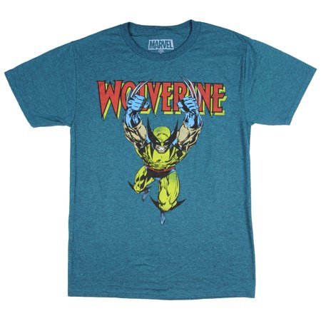 8a3622bb Hybrid - Marvel Wolverine Attacking X-Men Comic Book Claw Men's T-Shirt -  Walmart.com