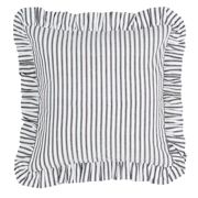 Josephine Black Fabric Pillow Cover 16x16