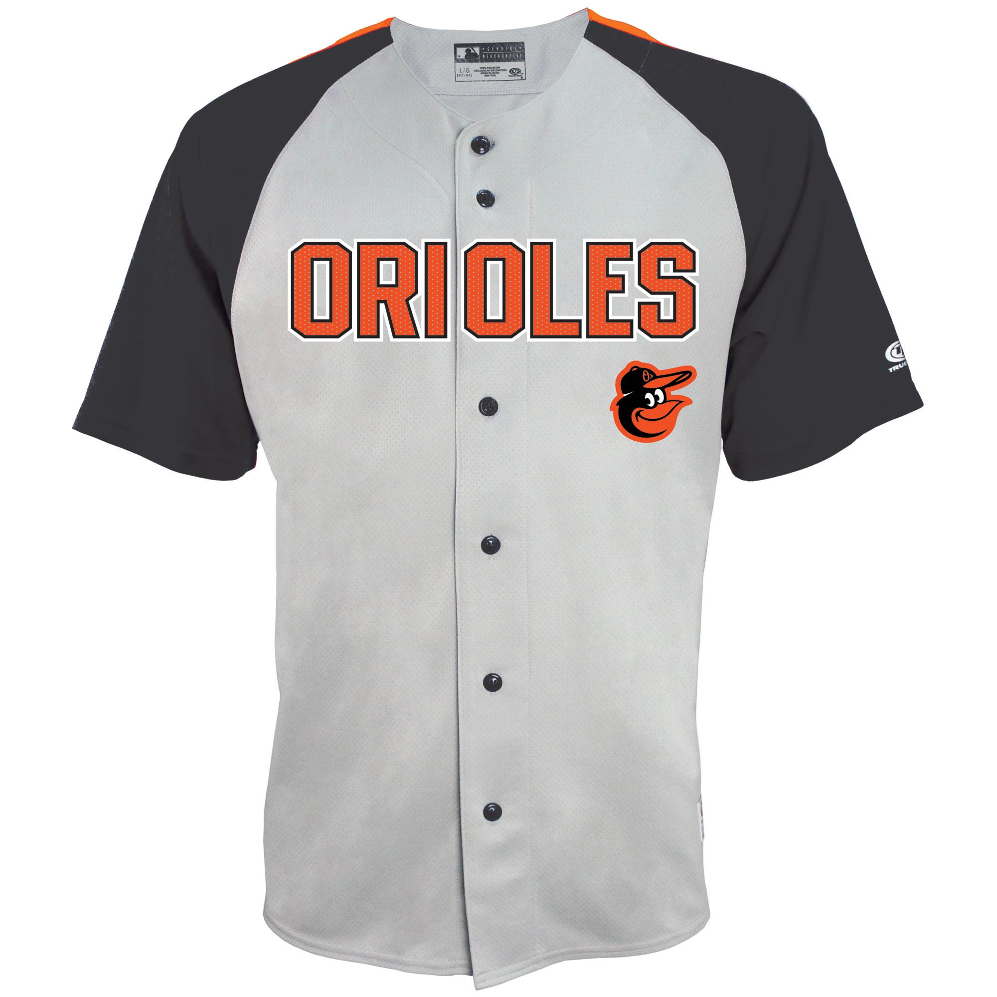 Baltimore Orioles Stitches Lightweight Mesh Jersey - Gray/Black
