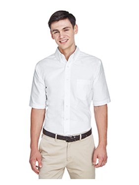 8972 UltraClub Classic Wrinkle-Free Short-Sleeve Oxford Shirt