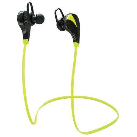 Koramzi Wireless Bluetooth Sport Earbuds Light weight Noise Cancelling Headphone With Mic And Volume Control Compatible With Any Bluetooth Enabled Devices, Bluetooth 4.0 (Green)