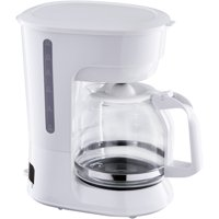 Mainstays 12 Cup White Coffee Maker with Removable Filter Basket