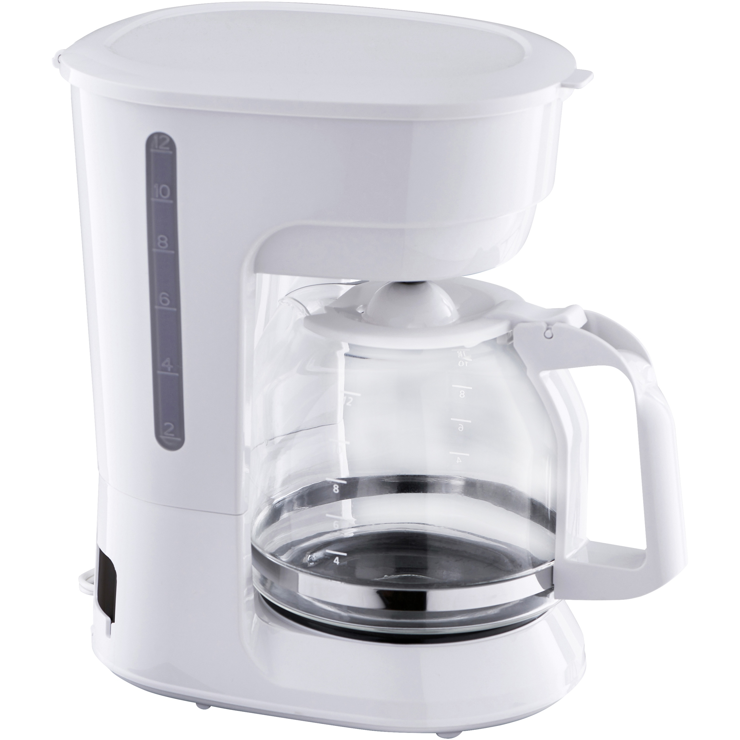Mainstays 12 Cup White Coffee Maker with Removable Filter Basket, 1 Each