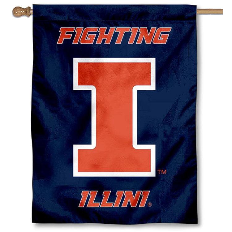 "Illinois Fighting Illini Blue 30"" x 40"" Double Sided House Flag"