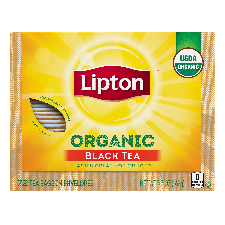Lipton Organic Tea Bags Black