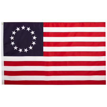 Betsy Ross Nylon Flag  3 By 5  Printed On One Side All The Way Through The Fabric By Quality Standard Flags