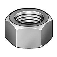Hex Nut,1-1/8-7,Steel,Plain 1XA85